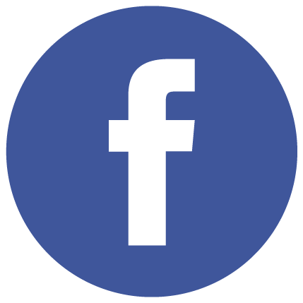 facebook round icon white